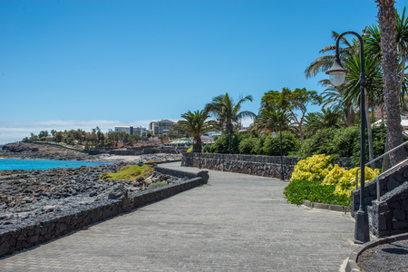 blanca: Shore promenade in Playa Blanca. Lanzarote
