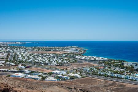 playa blanca: Playa Blanca, Lanzarote, Spain Stock Photo