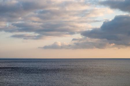 atlantic: Clouds over atlantic ocean Stock Photo