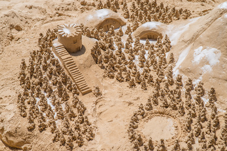 sandcastle: Sandcastle with trees