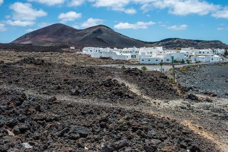 lanzarote: White village in Timanfaya National Park, Lanzarote