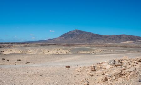Mountain behind the Papagayo beach, Lanzarote Stock Photo