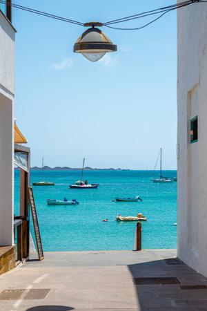 Ocean view in Corralejo, Fuerteventura Stock Photo