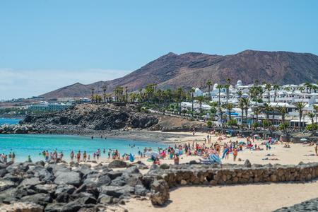 Playa Dorada Beach near Playa Blanca, Lanzarote