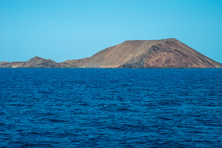 Fuerteventura island from the ocean, Spain Stock Photo