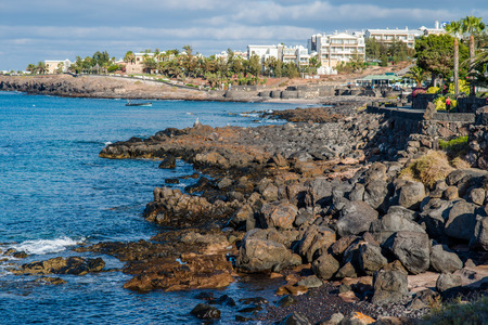 Quay of Playa Blanca, Lanzarote Stock Photo