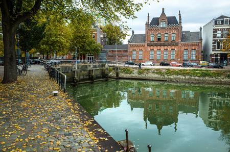 netherlands: Canal in Rotterdam, Netherlands
