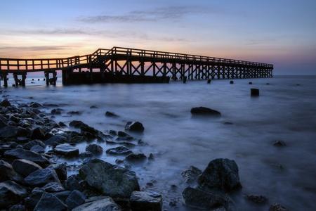 Sunrise at the fishing pier at Port Mahon, Dover Delaware.
