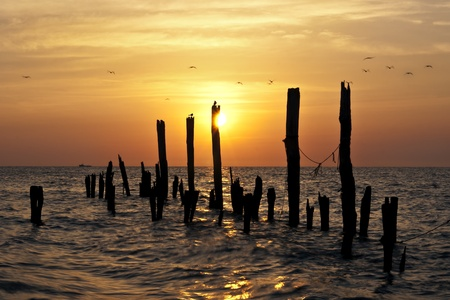 Sunrise on the Delaware Bay, Port Mahon.