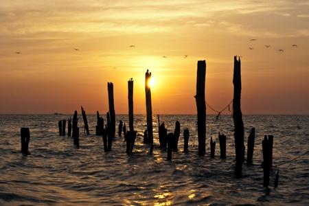 Sunrise on the Delaware Bay, Port Mahon. photo