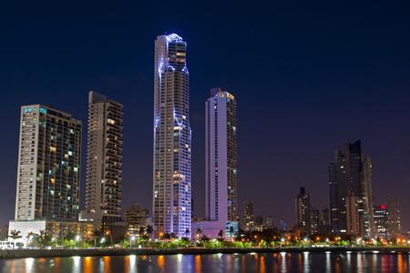 Skyline of Panama City, Panama at night