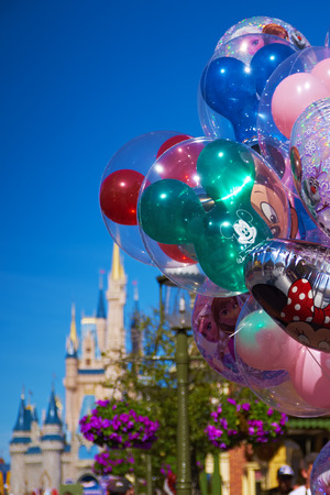 orlando: Disney balloons in front of Cinderalla Castle Photo taken on: 1292015