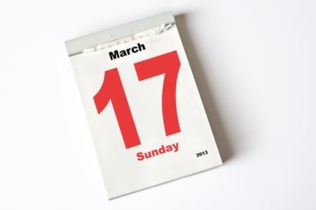 calendar sheet Stock Photo - 15083880