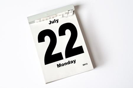 calendar sheet Stock Photo - 15151790