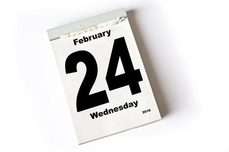 laken: calendar sheet  February 2016 Stockfoto