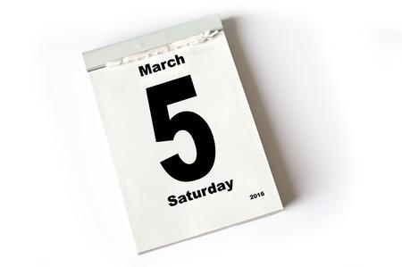 march: calendar sheet . March 2016