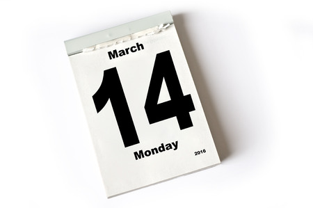 laken: kalender blad. Maart 2016