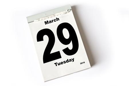 laken: calendar sheet . March 2016