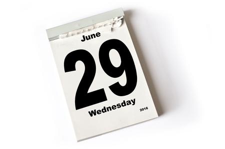 june: calendar sheet June 2016