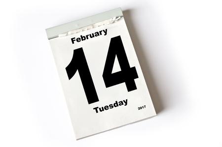 calendar sheet  February 2017