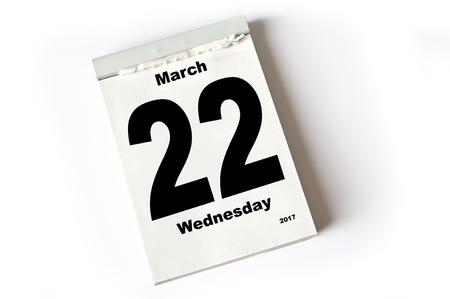 calendar sheet March 2017