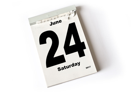 june: calendar sheet June 2017 Stock Photo