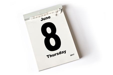 calendar sheet June 2017 Reklamní fotografie