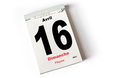 accord: feuille du calendrier