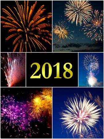 Jahr 2018 Standard-Bild