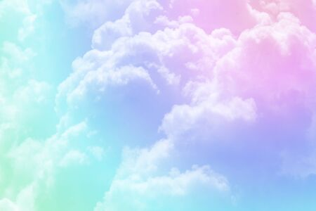 Cloudscape above the sky with soft spectrum filter Standard-Bild