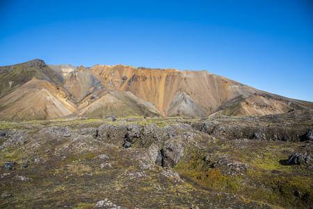Scenes from hiking in Landmannalaugar Stockfoto