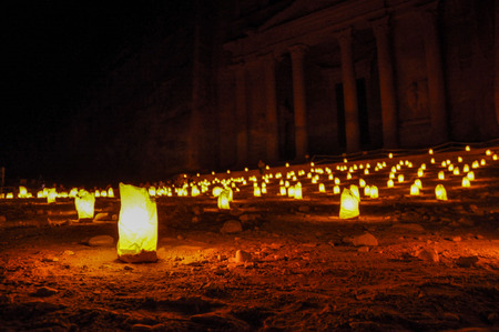 The Petra Treasury at Night