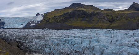 Panorama of the Svinafellsjokull Glacier, Iceland.