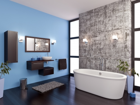 interior: 3d modeling and rendering of a bathroom