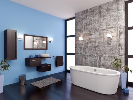 salle de bains: Mod�lisation 3D et de rendu d'une salle de bains Banque d'images