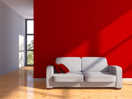 Modeling and 3d rendering of a living room