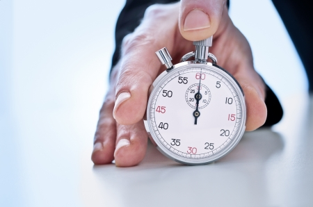 competitiveness: Photograph of Hand showing a stopwatch