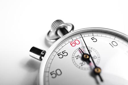 competitividad: Fotografía que muestra Cronómetro primer plano Foto de archivo