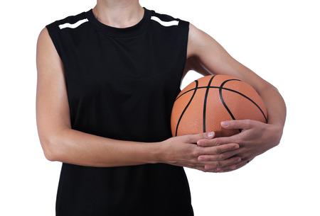 balon baloncesto: fotograf�a de un jugador de baloncesto sosteniendo una pelota