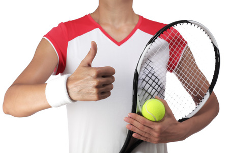 rigor: photography of a female tennis player doing the okay sign