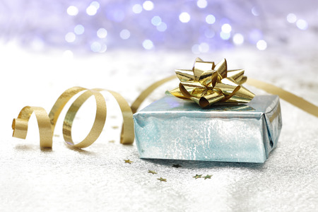 photography of a background gift package