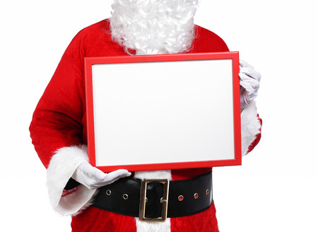 photography of Santa Claus holding a array Stock Photo