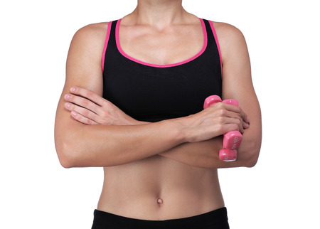 photography of an athletic woman crossing her arms Stock Photo