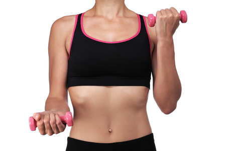 photography of a woman lifting dumbbells