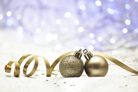 photography of background Christmas bauble Stock Photo