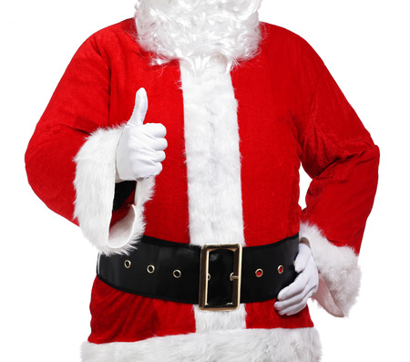 photography of Santa Claus doing the okay sign