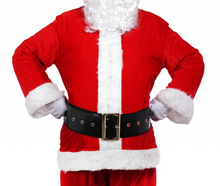 photography of Santa Claus with his hands on his hips Stock Photo