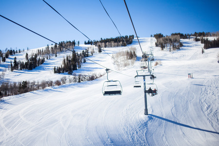 groomer: A Colorado chairlift at a ski resort.