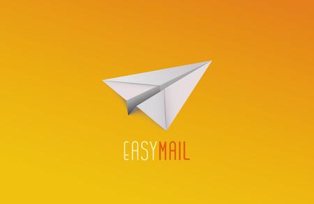 paper plane: Easy mail logo. Paper plane