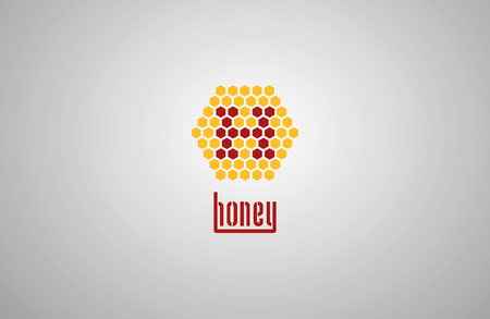 mead: logo with honey drop. Illustration